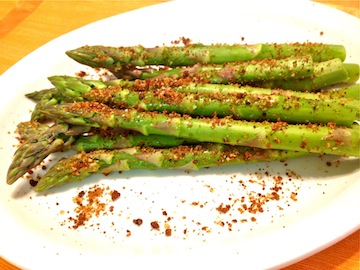 Sauteed Asparagus with Panache Breadcrumb