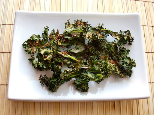 Kale Chips with Panache Breadcrumbs