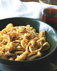Linguine with Panache Pantry Breadcrumbs